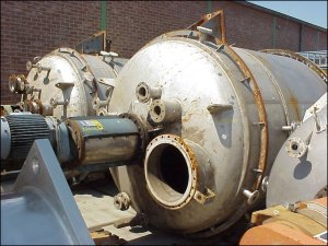 10,900 Litre, 9 Bar/Full Vacuum Internal, 7 Bar Jacket, 316 Stainless Steel Reactor