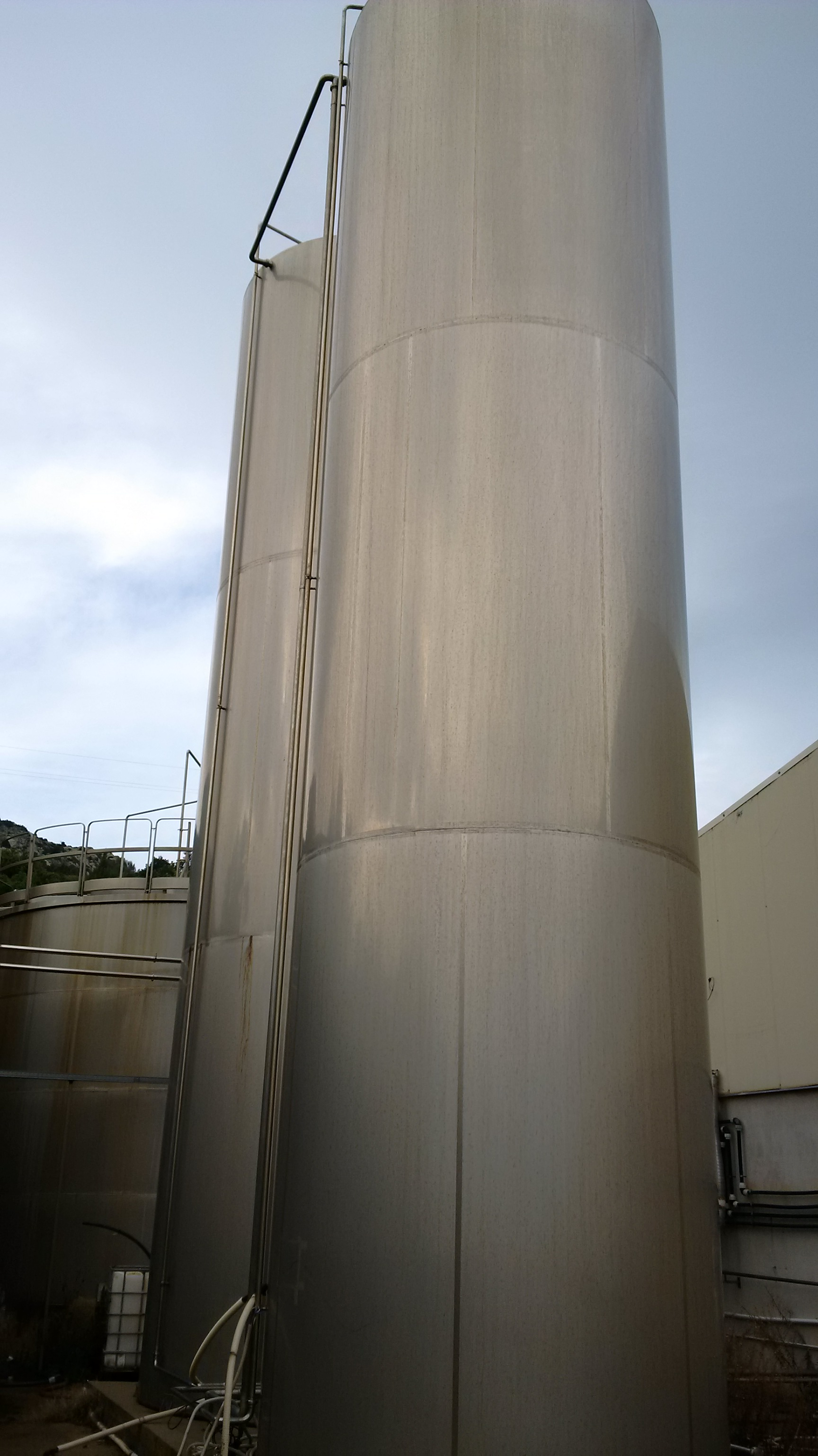85,000 Litre Stainless Steel Vertical Storage Vessel, 3000mm Dia x 12000mm Straight Side