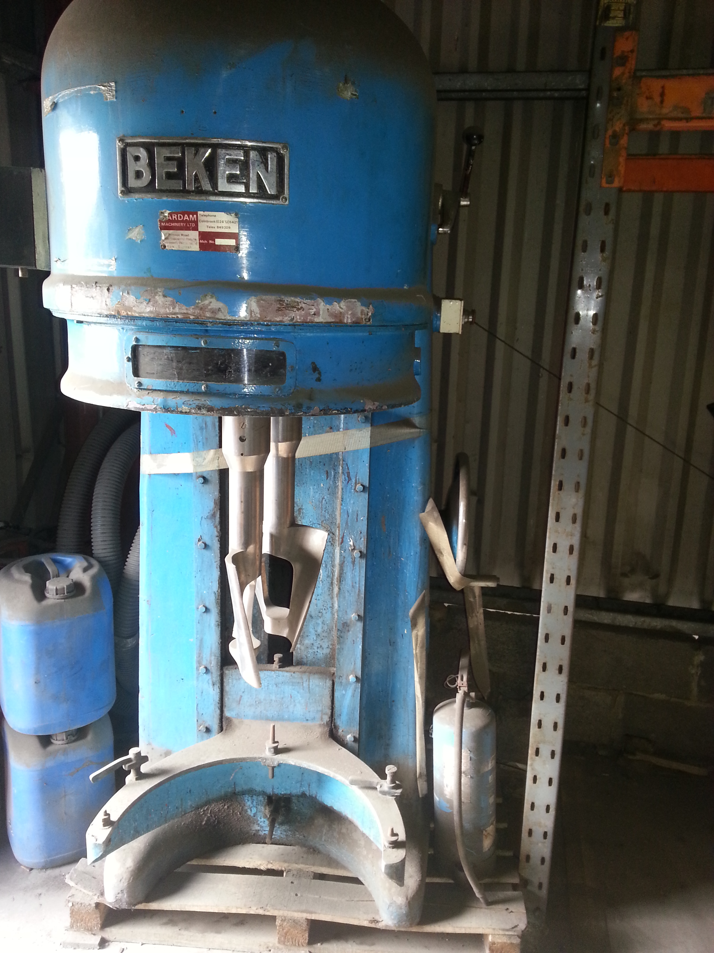 30 Gallon Beken Stainless Steel Planetary Mixer