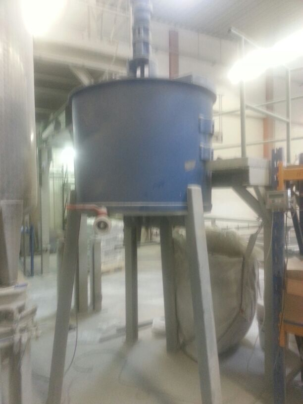 500 Litre Stainless Steel Mixing Vessel, 1130mm Dia x 900mm High