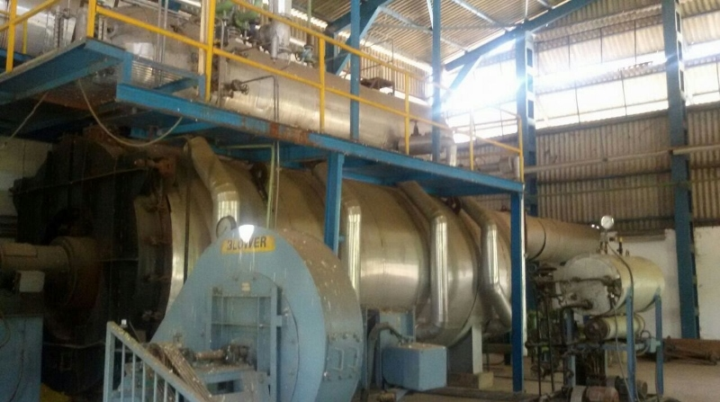 28,000#/Hour 150 PSI Thermax Combimax 3-Pass Packaged Twin Drum Boiler