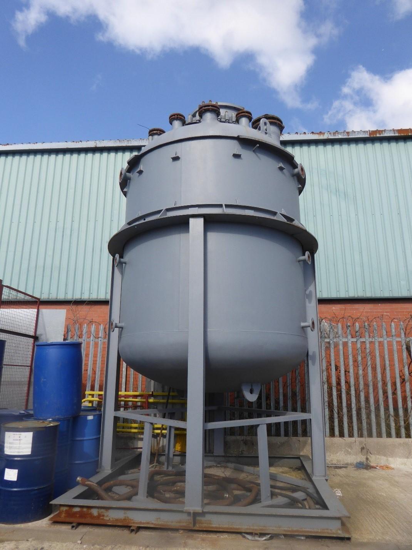 12,500 Litre 6 Bar Internal, 6 Bar Jacket Pfaudler Glass Lined Reactor