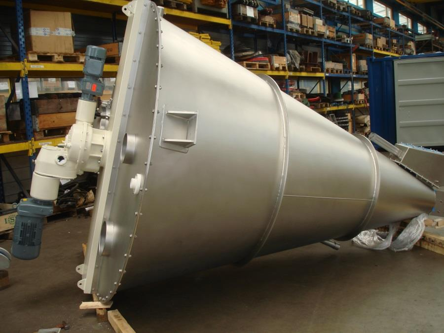 2,800 Litre Nauta Type 2800PL Stainless Steel Conical Mixer