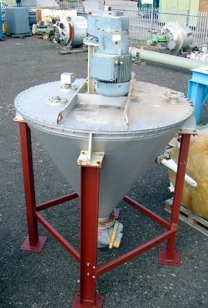 600 Litre Engelsmann Model KSM 600-14541-ST 37/GM Stainless Steel Nauta Type Vertical Cone Mixer