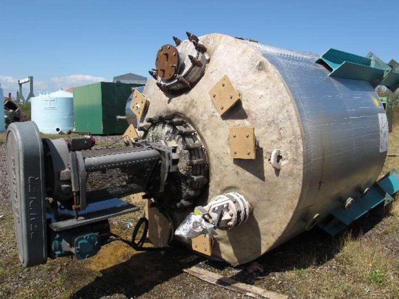 6,820 Litre 6.83 Bar Internal Pfaudler-Balfour Glass Lined Reactor
