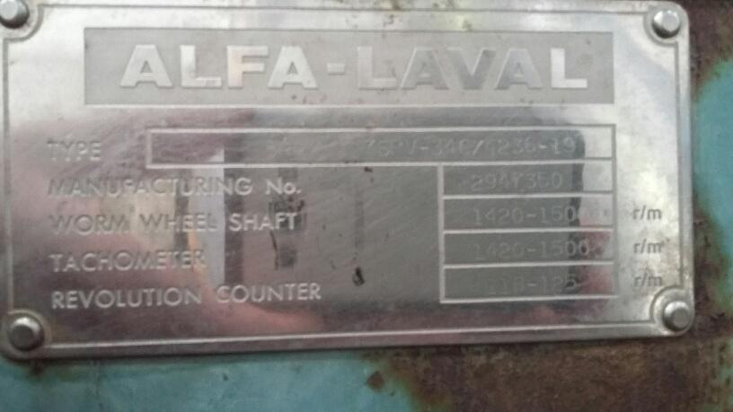 Alfa Laval BRPX 317 SFV-34C/4236-19 Stainless Steel Clarifier Centrifuge
