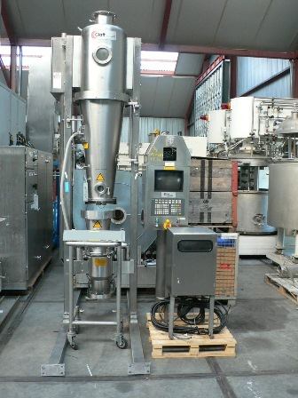 Glatt Model GPCG-5 Spezial 180mm X 360mm Stainless Steel Fluid Bed Dryer/Spray Granulator