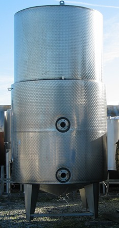 12,000 Litre Stainless Steel Vertical Storage Vessel, 1980mm Dia x 3570mm Straight Side