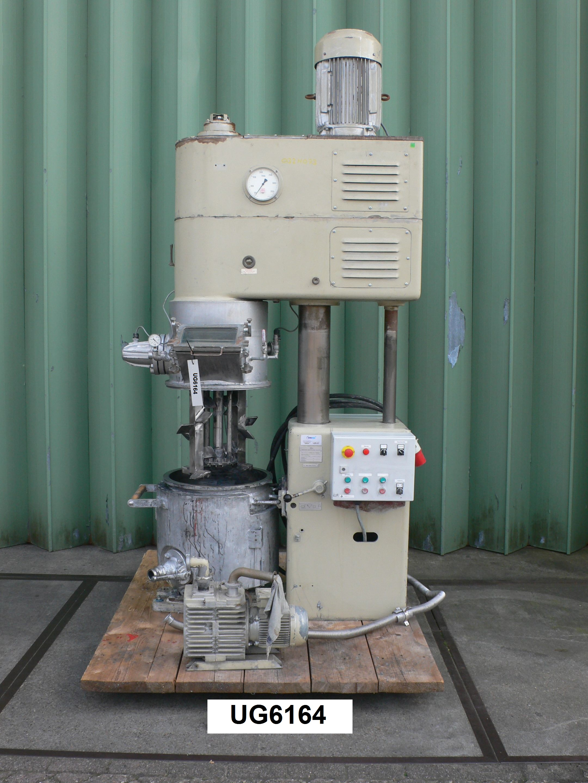 21 Gallon 18 HP Draiswerke Stainless Steel Vacuum Planetary Mixer