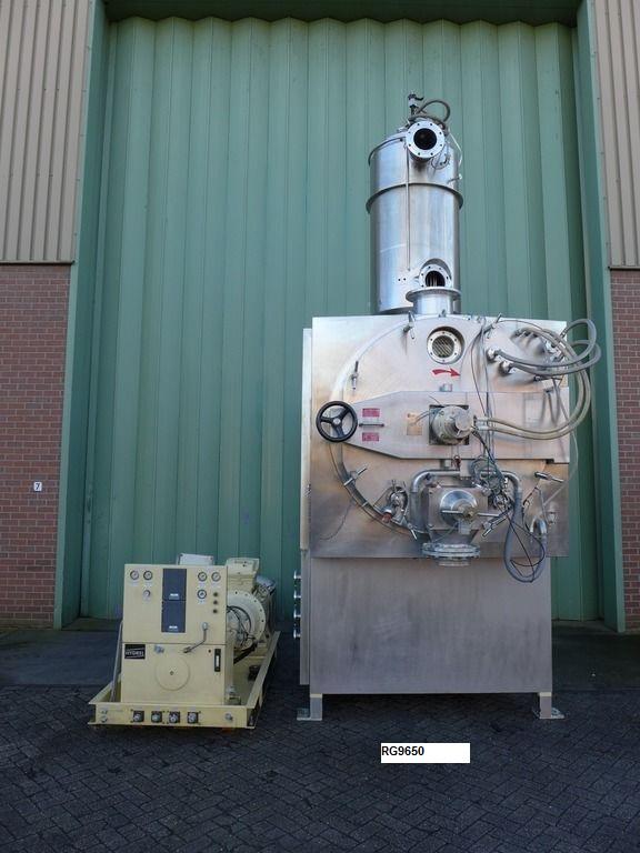 2000 Litre Capacity Glatt Inox Type IST-2000 Stainless Steel Paddle Dryer