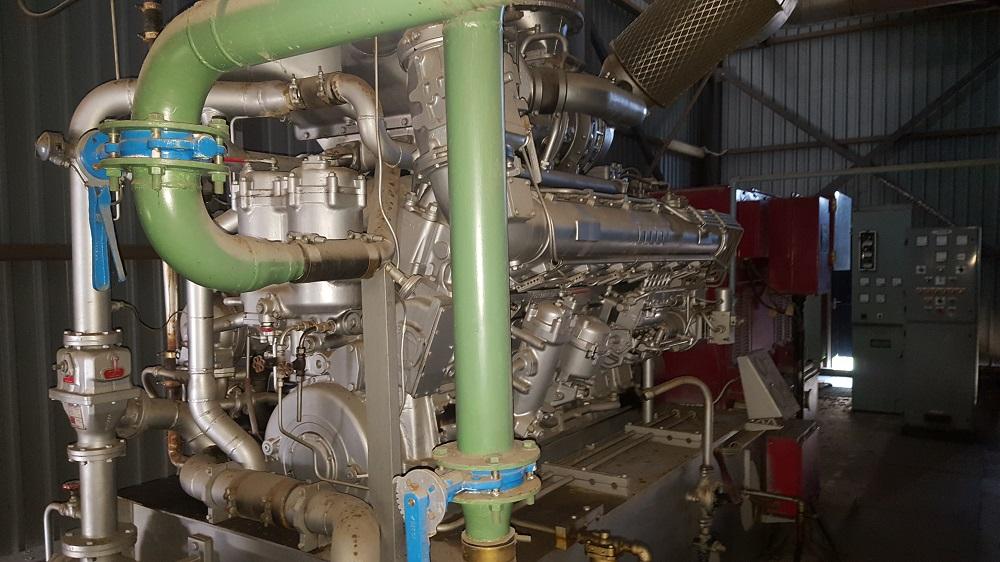 (2) Used 1110 kW, 6600V, 50 Hz, MTU Diesel Generator Sets