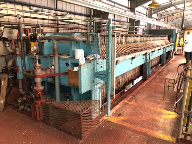 445 Sqmt Edwards & Jones Polypropylene Plate Filter Press