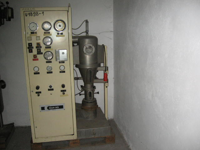 Glatt Model WSG-1 Stainless Steel Fluid Bed Dryer