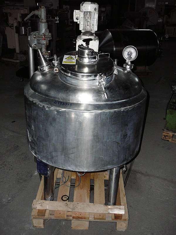 170 Litre, 1.5 Bar Internal, 3 Bar Jacket 316 Stainless Steel Reactor