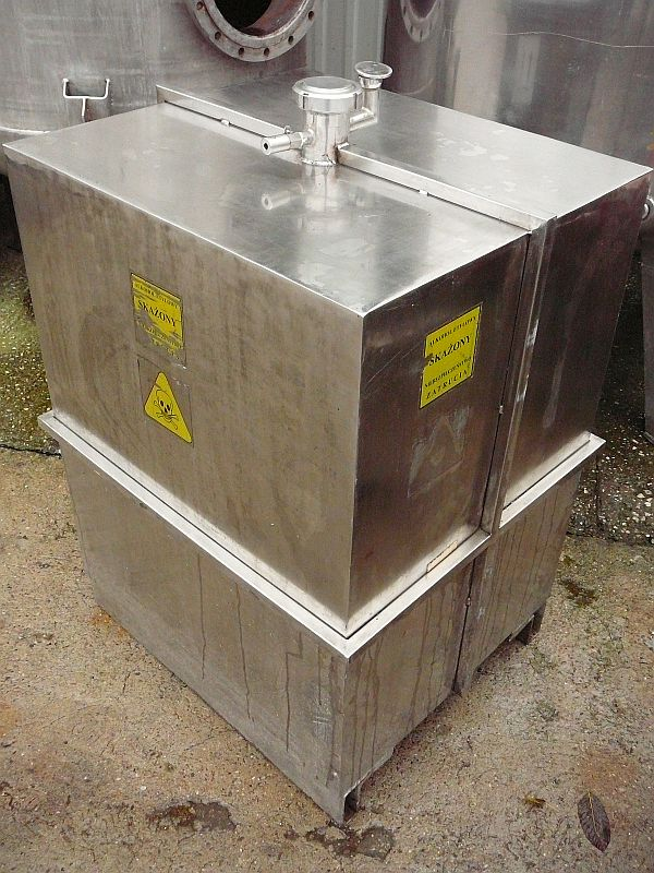 500 Litre Stainless Steel Rectangular Storage Tank 700mm x 800mm Long