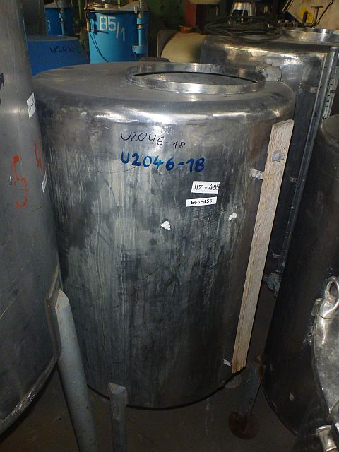 500 Liters Stainless Steel Vertical Storage Tank 800mm Dia x 1050mm High