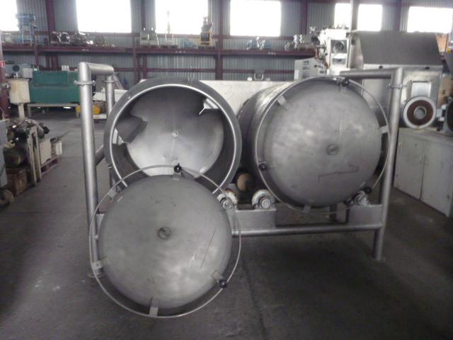 65 Cu. Ft. Scanio (Denmark) 304 Stainless Steel Tumbling Mixer