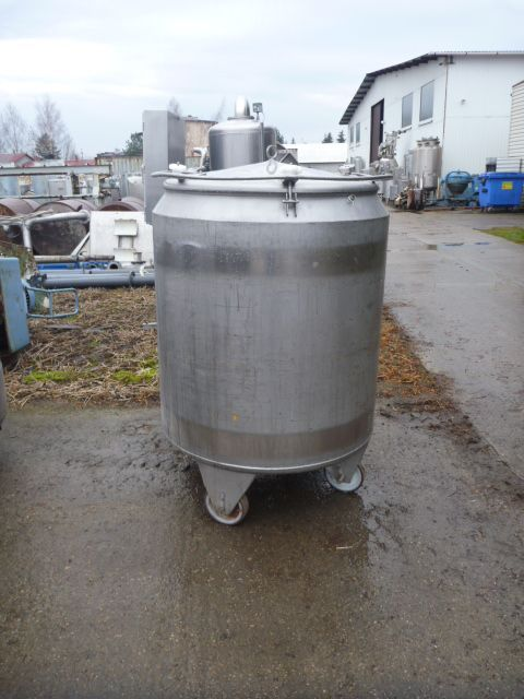 925 Liters 304 Stainless Steel Mobile Tank 1040mm Dia x 1100mm Straight Side