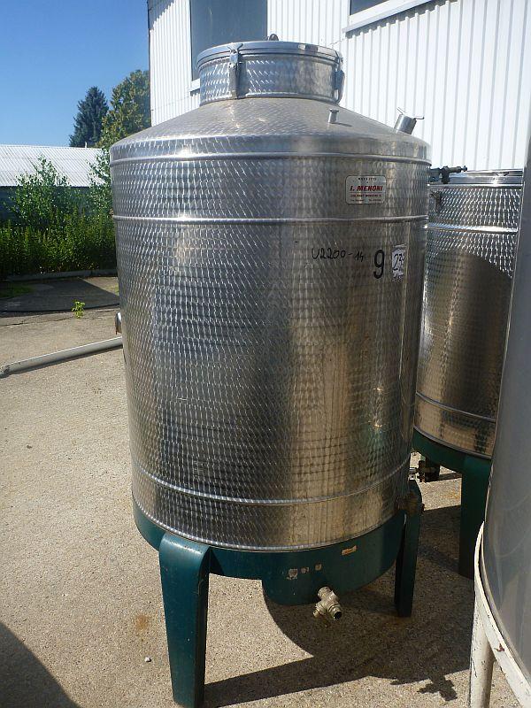 1000 Liters Stainless Steel Vertical Storage Tank