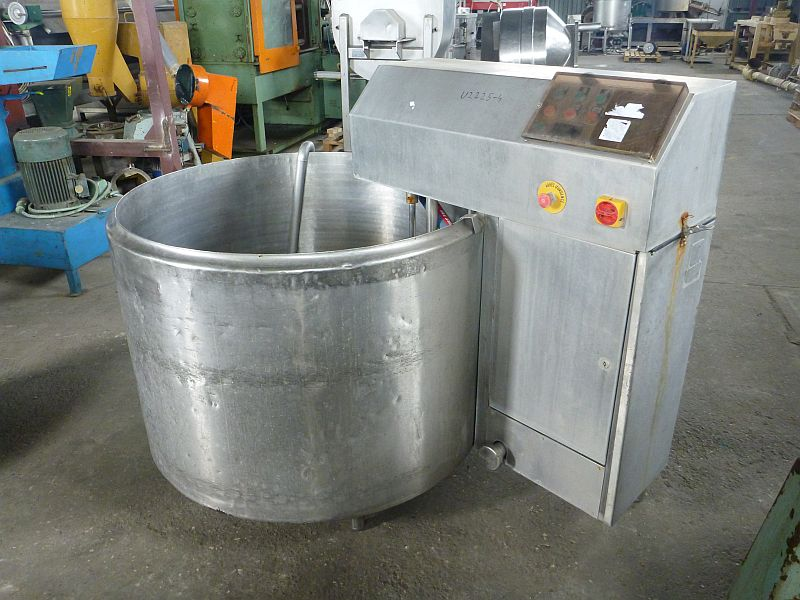 800 Liter Second hand jacketed mixing tank 1210mm Dia x 750mm Straight Side
