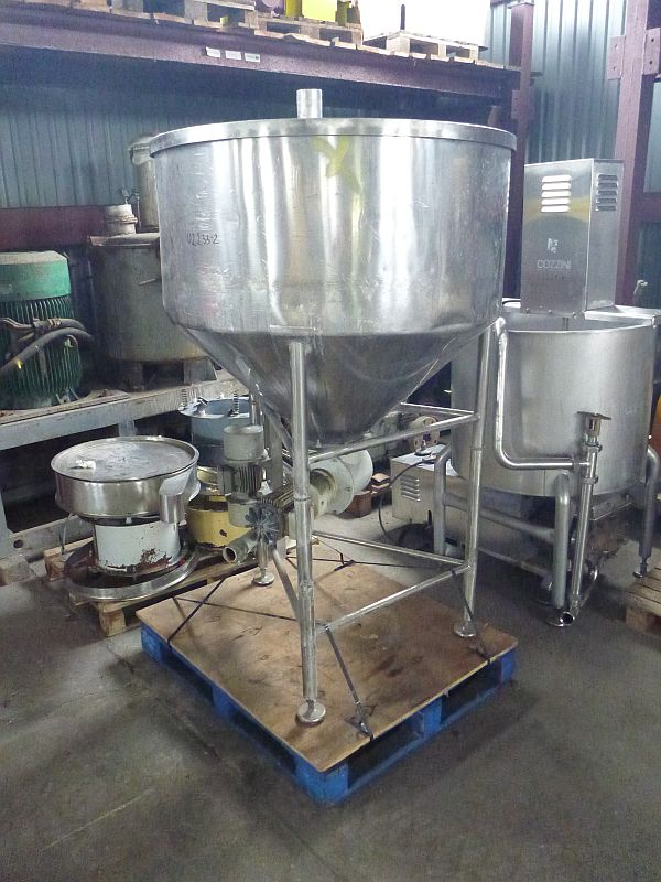 25 Cubic Foot Azo Stainless Steel Conical Silo
