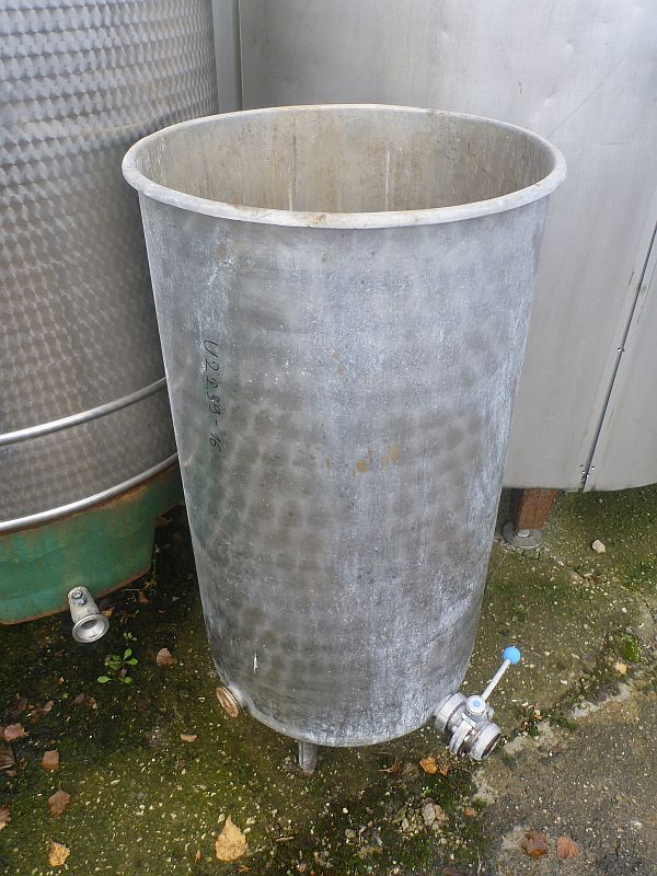 240 Litre Vertical Storage Tank with Open Top 560mm Dia x 980mm