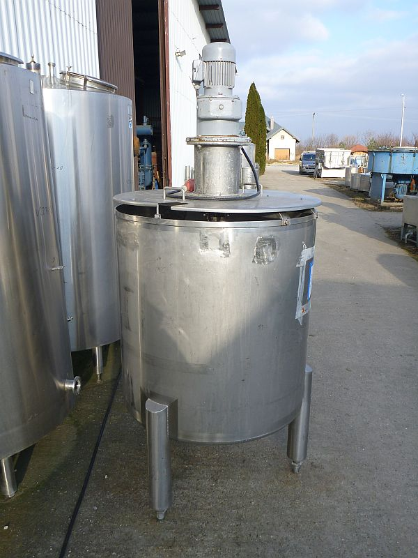 730 Liters Total Volume Stainless Steel Vertical Mixing Tank 960mm Dia x 1020mm Straight Side