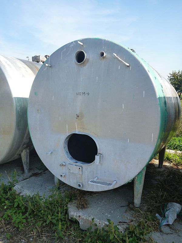 6300 l stainless steel horizontal insulated storage tank type FK63