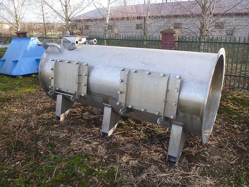 2,700 Litre Gloucester Material Handling Ltd. Stainless Steel Paddle Mixer
