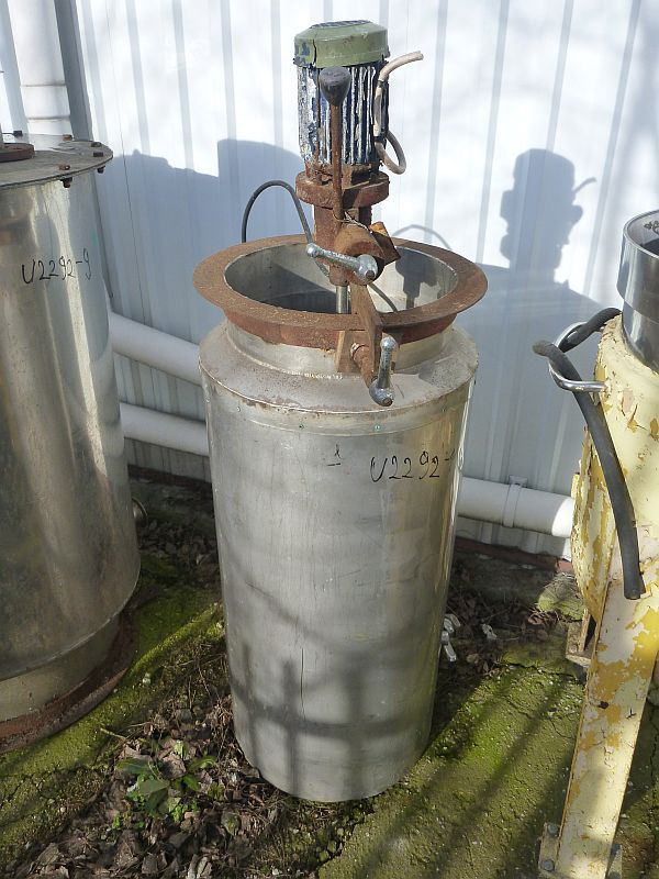 110 l vertical stainless steel mixing tank  with insulated walls