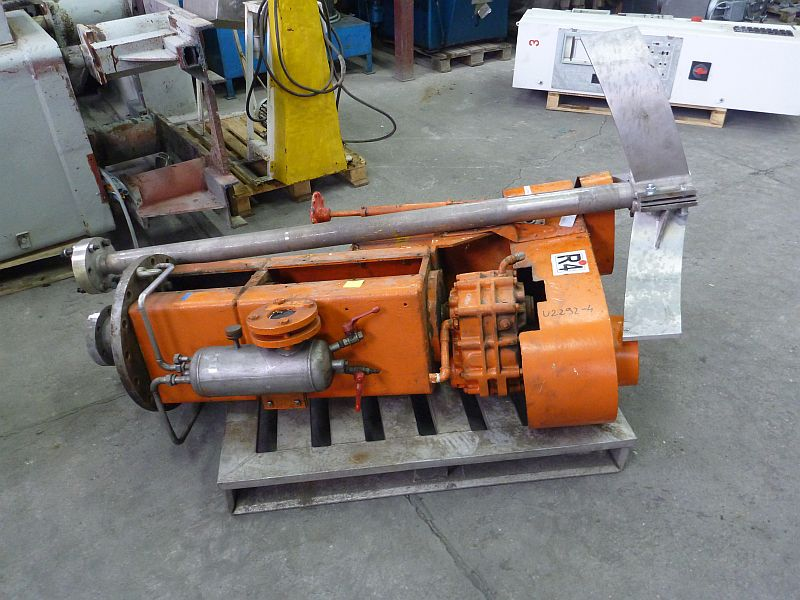 11 kW stainless steel contact parts vertical paddle agitator.Ex design