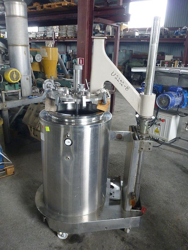 200 l vertical stainless steel mobile tank