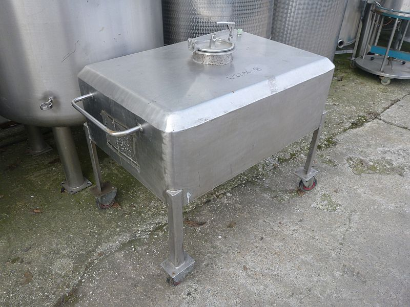 400 l rectangular stainless steel storage tank