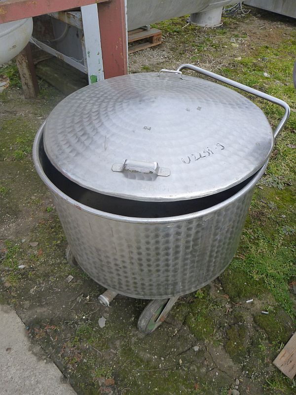 250 l vertical stainless steel mobile pan