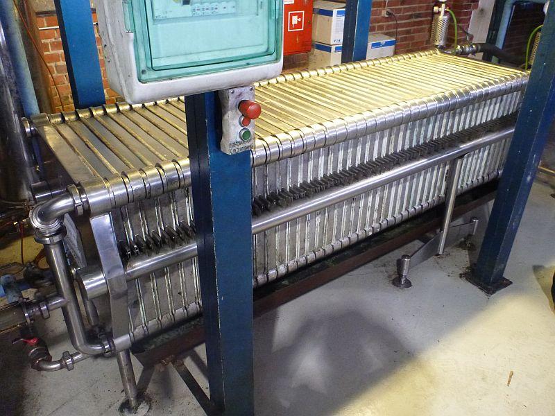 32.4 m2 600 x 600 mm plate/frame stainless steel filterpress Filtrox Novox 60/60