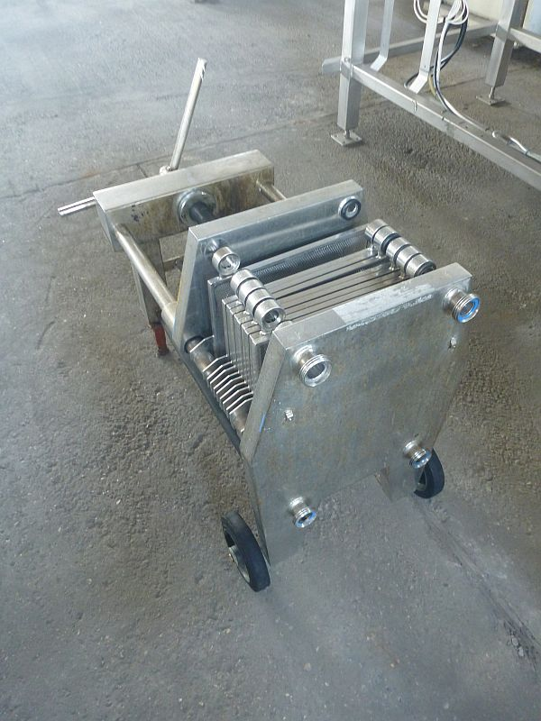 1.6 m2 filtration surface stainless steel filter press by Schenk type plate and frame