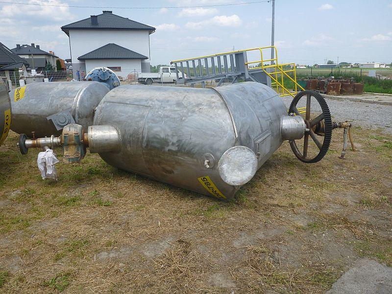 2970 l GEMCO Stainless Steel V-Type Jacketed Vacuum Blender Dryer