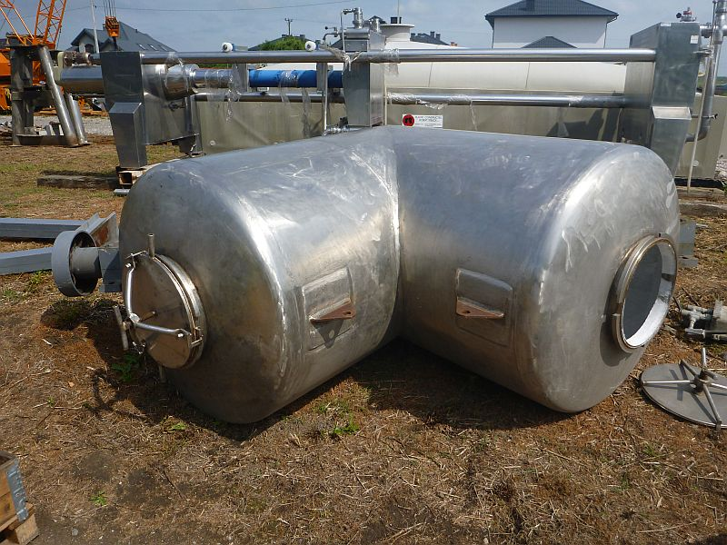 3000 l stainless steel contact parts V type tumbling mixer