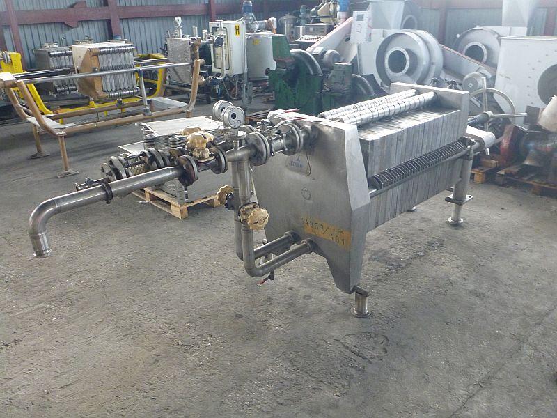 12.5 m2 Stainless Steel Filter Press Schenk Plate Frame 575 mm x 575 mm