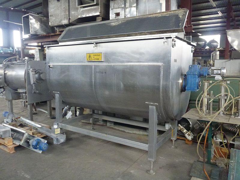 4,000 Liter Zacmi Horizontal Stainless Steel Jacketed Mixer/Cooker
