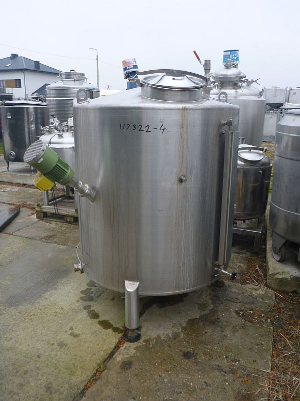 1500 l Vertical Stainless Steel Mxing Tank With Coil