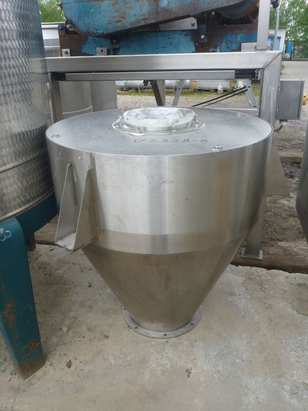 290 L Vertical Stainless Steel Feeding Powder Silos