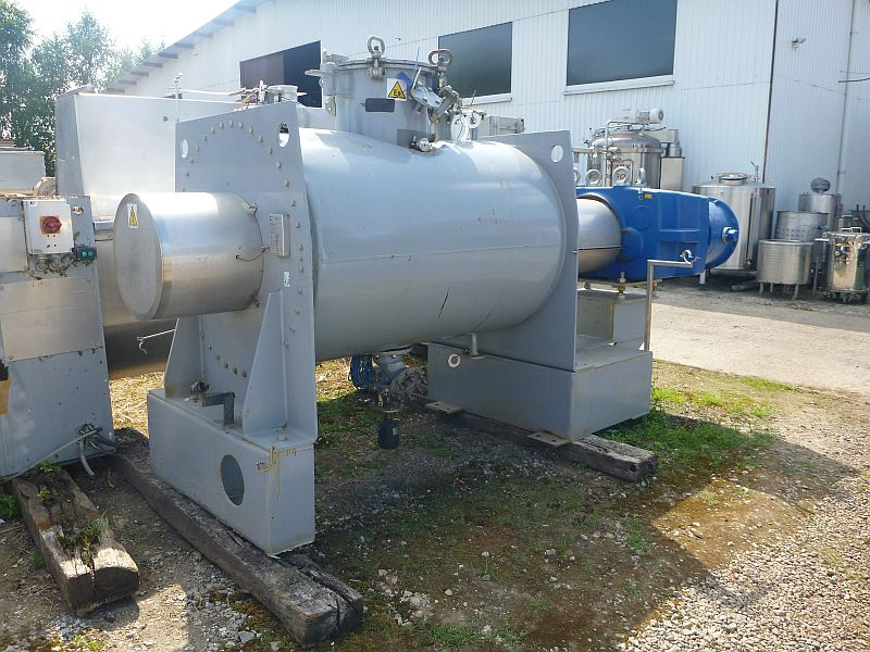 1700 Liter Kates ATEX Carbon Steel Paddle Mixer Jacketed