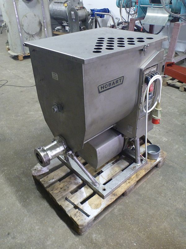 130 Liter Stainless Steel Paddle Mixer Hobart Type 4346 With Auger Discharge