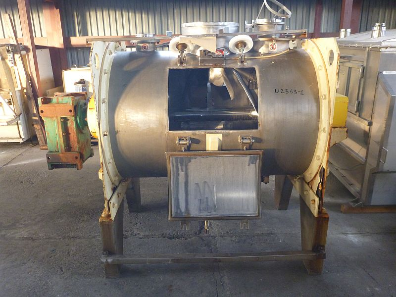 750 L Stainless Steel Horizontal Ploughshare Mixer Govoni Sim Bianca