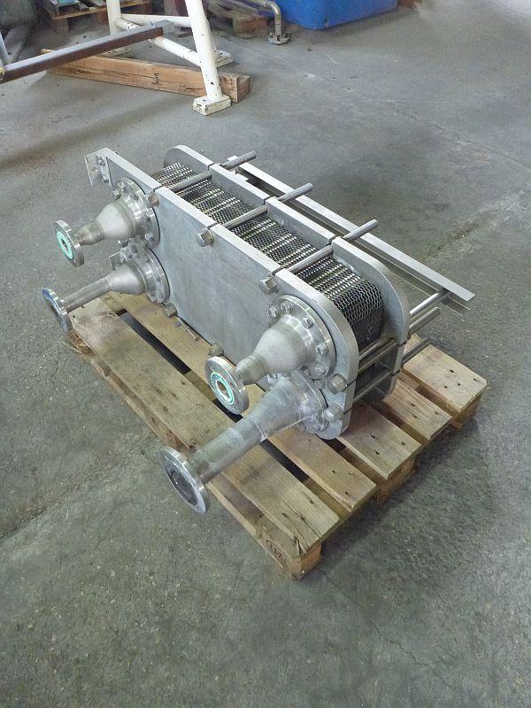 8.8 Sq. M. Flowcomm Benelux Stainless Steel Plate Heat Exchanger