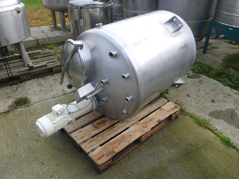 750 L Vertical Stainless Steel Mixing Tank With Toothed Disc Agitator