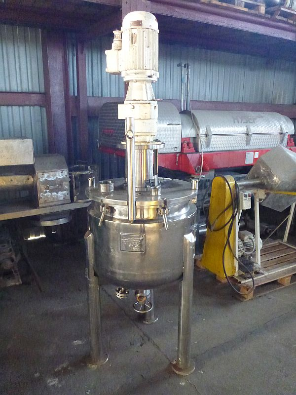 152 L Vertical Stainless Steel Mixing Tank With Anchor Agitator And Heating Jacket