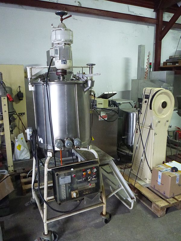 100 L Vertical Stainless Steel Mixing Tank By Erweka With Jacket And Paddle Type Agitator