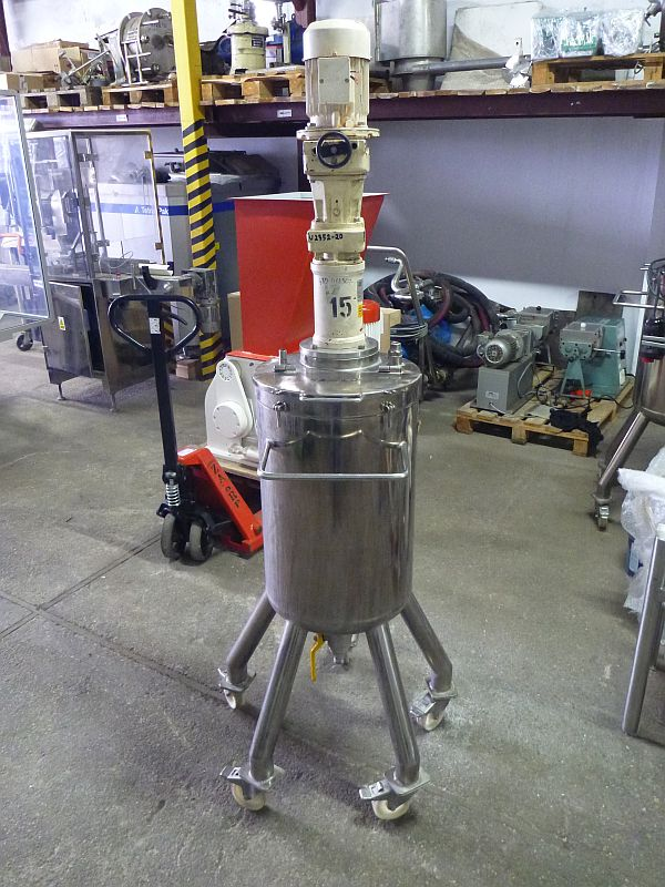 60 L Vertical Mobile Stainless Steel Mixing Tank